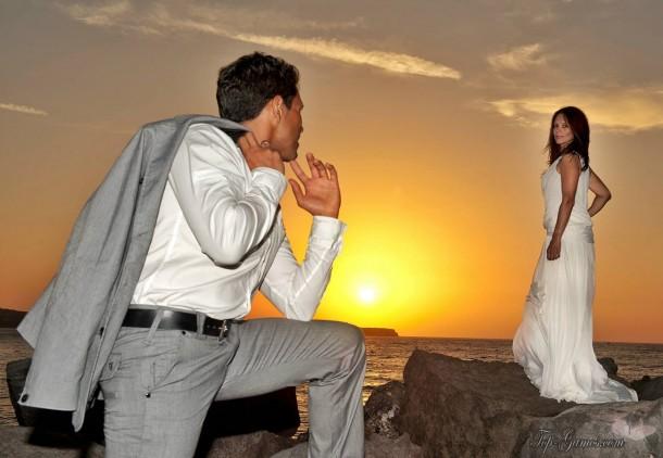 Γαμήλιο ταξίδι στη Σαντορίνη