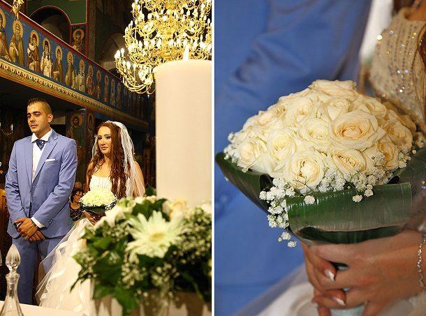Γάμος με στολισμό λευκού και μέντας | Μαρίνα & Στέλιος